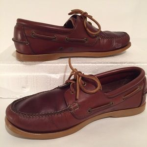 Brooks Brothers 346 Mens 9 Leather Boat Shoes